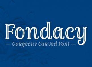 Fondacy Carved Display Font