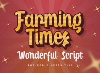 Farming Times Script Font