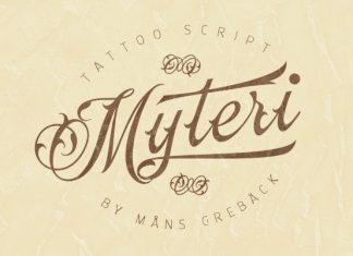 Myteri Tattoo Script Font