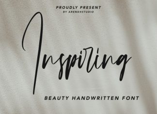 Inspiring Handwritten Font