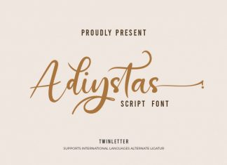 Adiystas Calligraphy Font