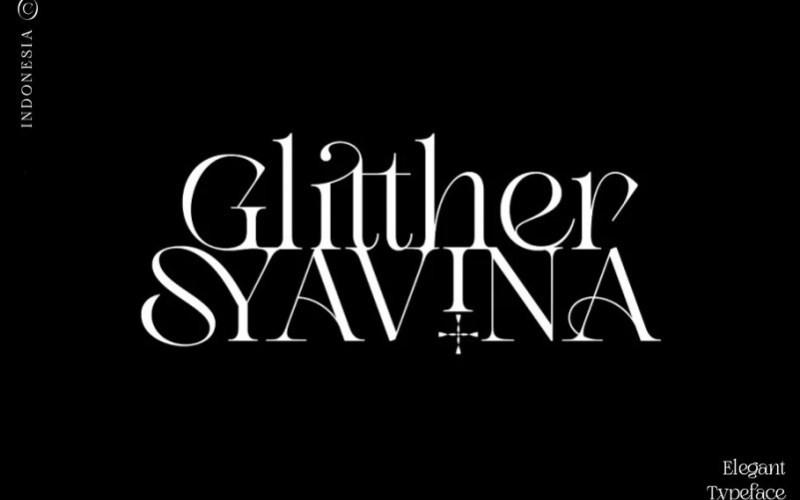 Glitther Syavina Serif Font