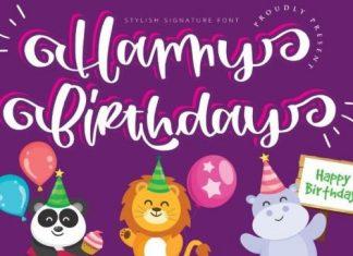 Happy Birthday Script Font