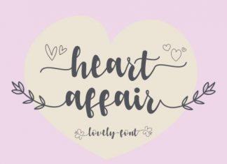 Heart Affair Script Font