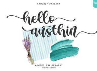 Hello Austhin Calligraphy Font