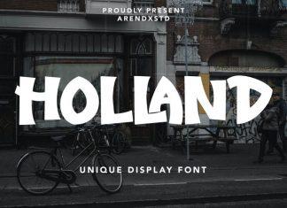 Holland Display Font