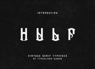 Hulf Display Font