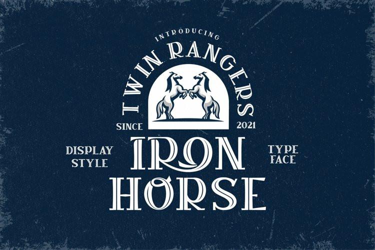 Iron Horse Display Font