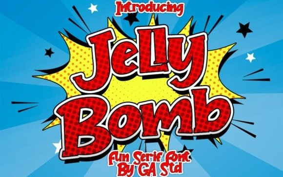 Jelly Bomb Display Font