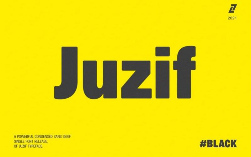 Juzif Black Sans Serif Font