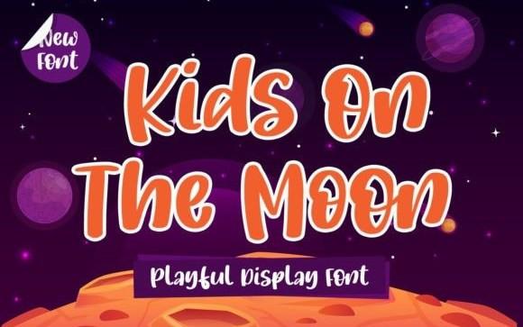 Kids On The Moon Script Font