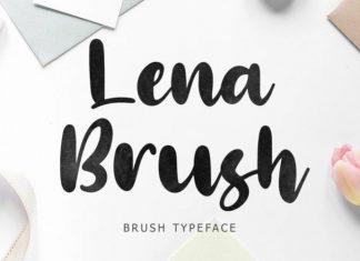 Lena Brush Font