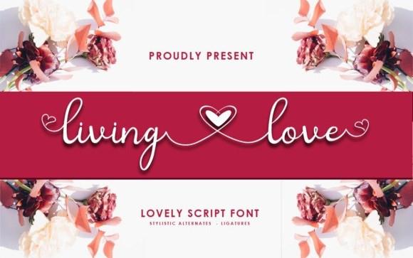 Living Love Script Font