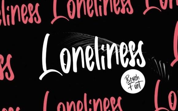 Loneliness Script Font