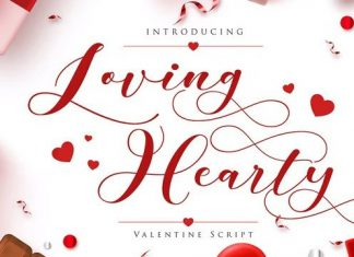 Loving Hearty Calligraphy Font