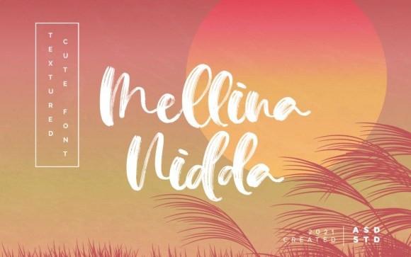 Mellina Nidda Brush Font