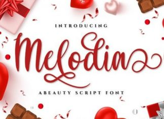 Melodia Calligraphy Font