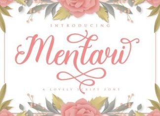 Mentari Calligraphy Font