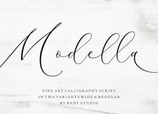Modella Calligraphy Font