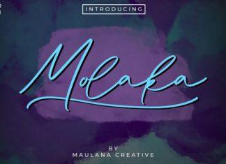 Molaka Script Font