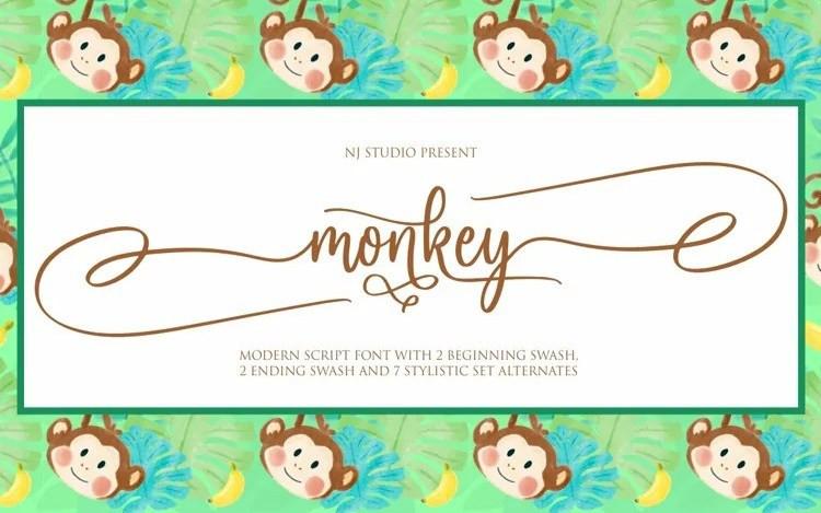 Monkey Calligraphy Font