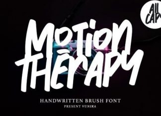 Motion Therapy Brush Font