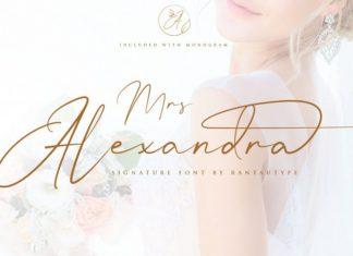 Mrs Alexandra Script Font