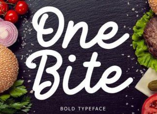 One Bite Script Font