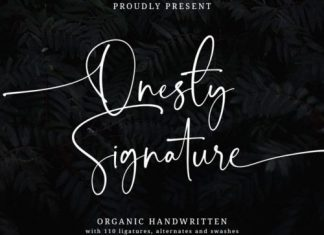 Onesty Signature Script Font