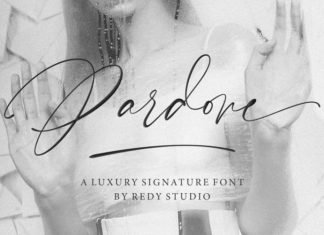 Pardone Calligraphy Font