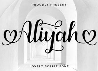 Aliyah Calligraphy Font