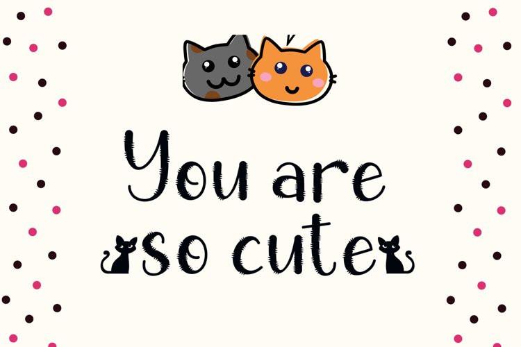 Chic Cat Display Font