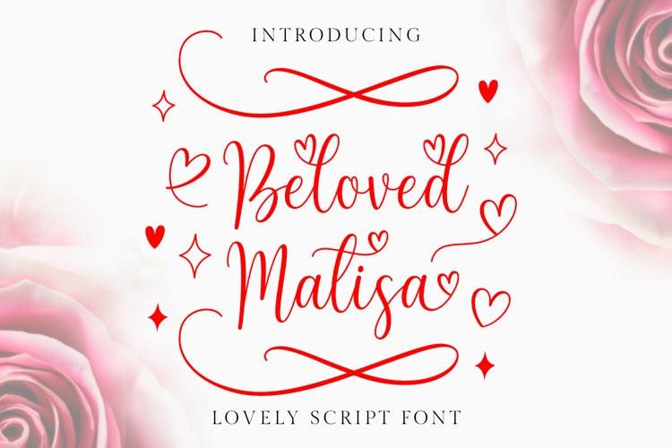 Beloved Matisa Calligraphy Font