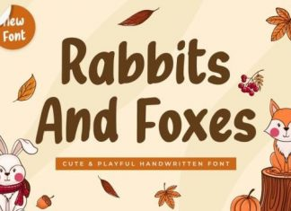 Rabbits And Foxes Display Font