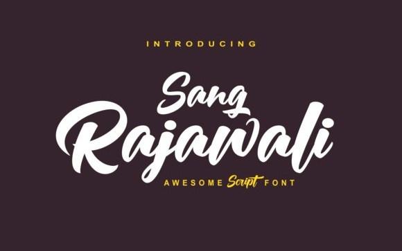 Rajawali Script Font