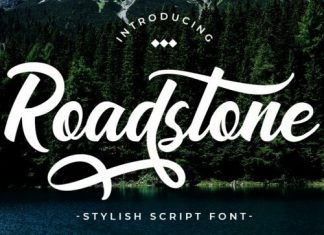 Road Stone Script Font