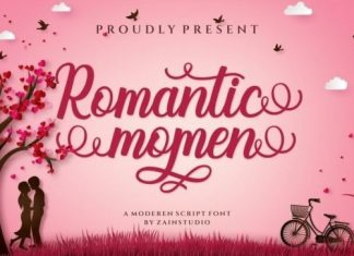 Romantic Momen Calligraphy Font