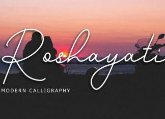 Roshayati Script Font