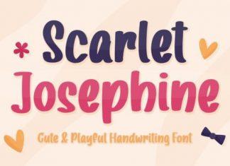 Scarlet Josephine Display Font