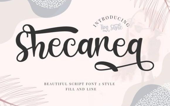 Shecarea Calligraphy Font