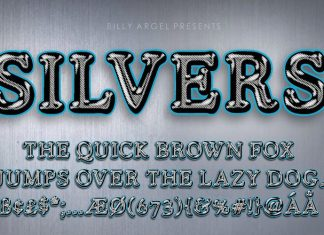 Silvers Display Font