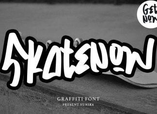 Skatenow Script Font