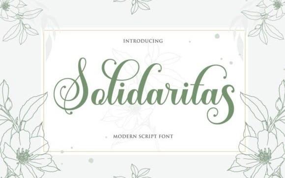 Solidaritas Calligraphy Font