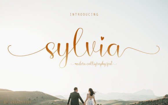 Sylvia Calligraphy Font
