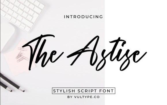 The Astise Script Font