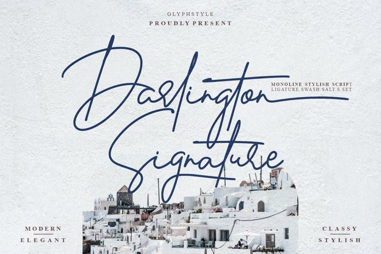 Darlington Signature Script Font