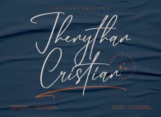 Jhenythan Cristian Handwritten Font