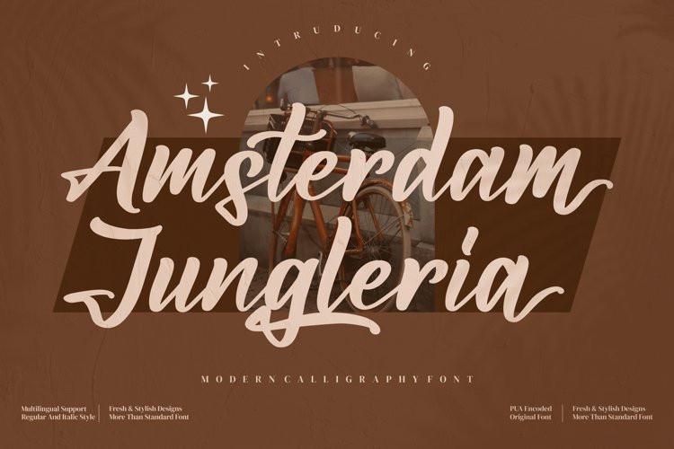 Amsterdam Jungleria Script Font
