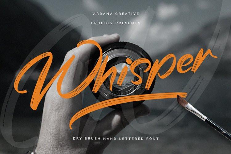 Whisper Brush Font
