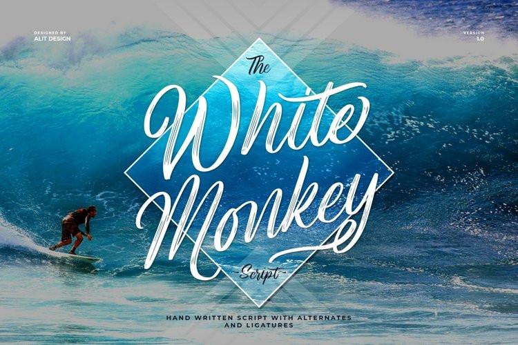 White Monkey Brush Font